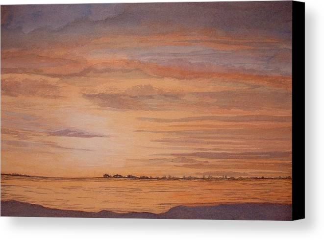 Landscape Canvas Print featuring the painting January Sunrise by Lynn ACourt