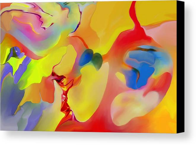 Abstact Canvas Print featuring the digital art Joy And Imagination by Peter Shor