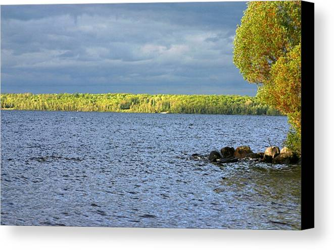 Lakes Canvas Print featuring the photograph Lake Superior Shoreline After A Brief Storm by Vincent Duis