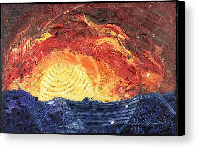 Abstract Canvas Print featuring the painting Lever De Soleil by Dominique Boutaud