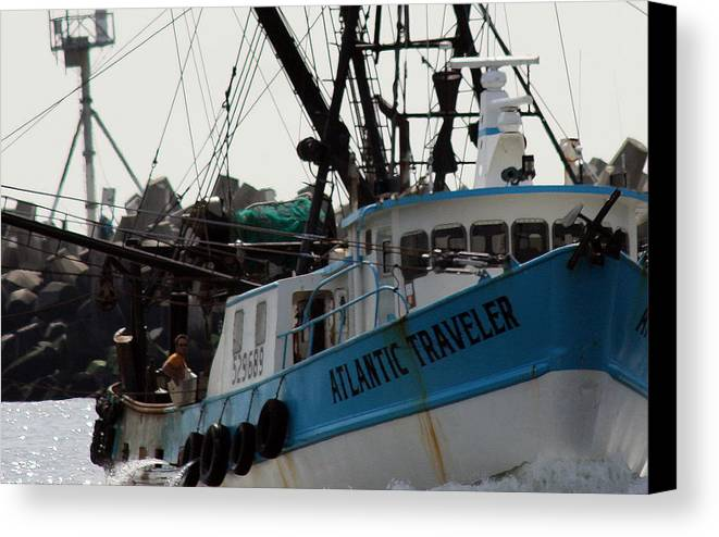 Fishing Boat Canvas Print featuring the photograph Long Haul by Mary Haber