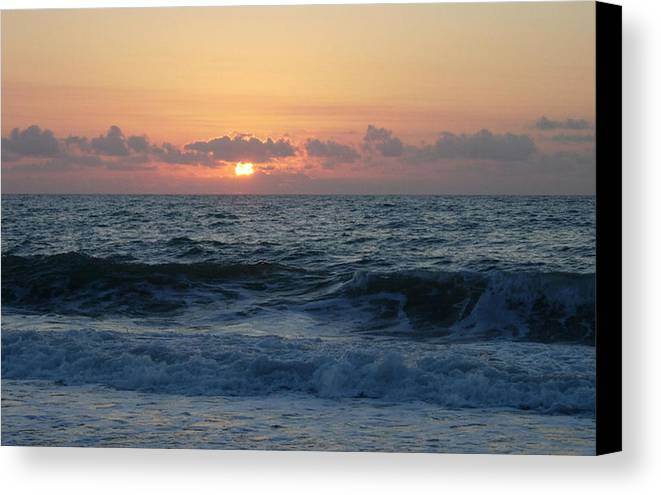 Majestic Canvas Print featuring the photograph Majestic Atlantic Sunrise by Stephanie H Johnson
