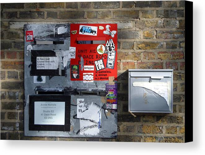 Jez C Self Canvas Print featuring the photograph Notice Board For Scrap by Jez C Self