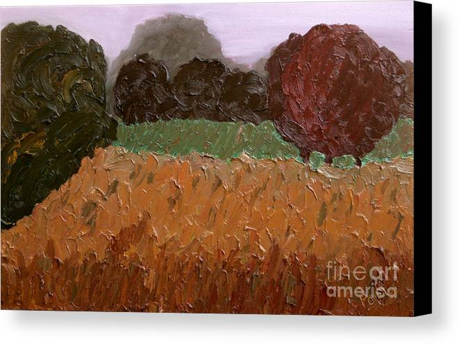 Abstract Canvas Print featuring the painting Nowhere Known - Sold by Paul Anderson