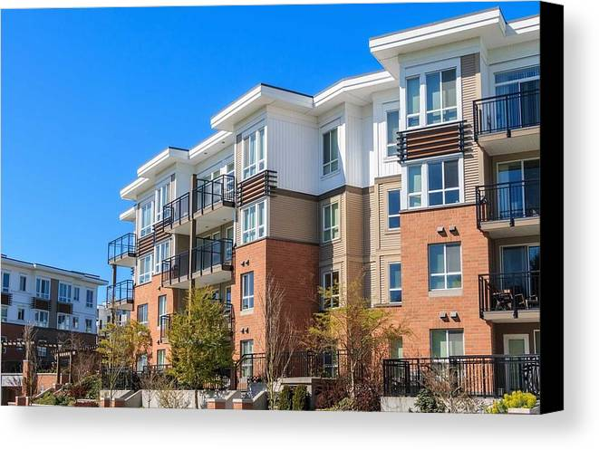 Oakville Canvas Print featuring the relief Oakville Property Management by Tony