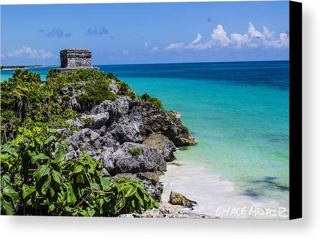 Landscape Canvas Print featuring the photograph Ocean View by Chace Adair