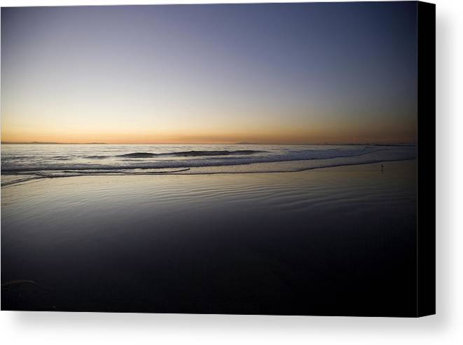 Water Canvas Print featuring the photograph Pacific Ocean Dusk by Brad Rickerby