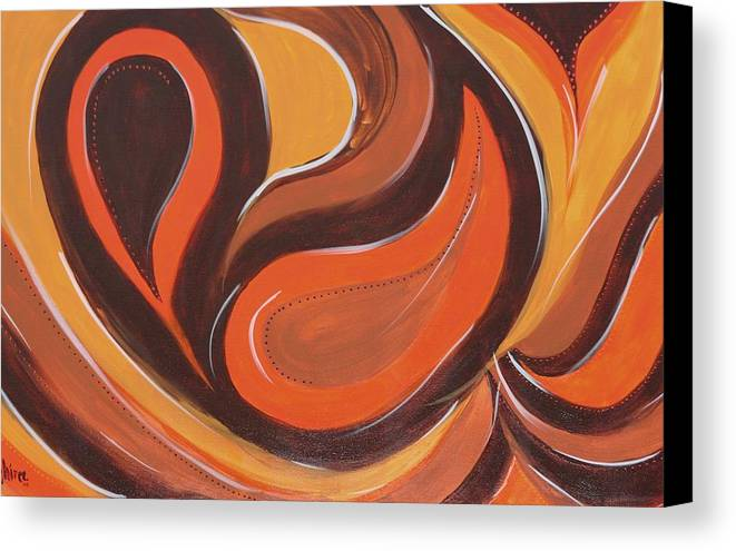 Abstract Art Canvas Print featuring the painting Paisley Park by Shiree Gilmore