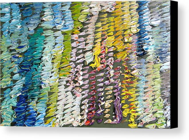 Abstract Canvas Print featuring the painting Palette. Colorful Painter Palette. Exhausted Paint And Abstract Painting. by Vitali Komarov