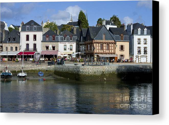 Auray Canvas Print featuring the photograph Port Of St Goustan In Brittany France by Mark Hendrickson