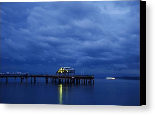 Port Townsend Canvas Print featuring the photograph Port Townsend Ferry by Alasdair Turner