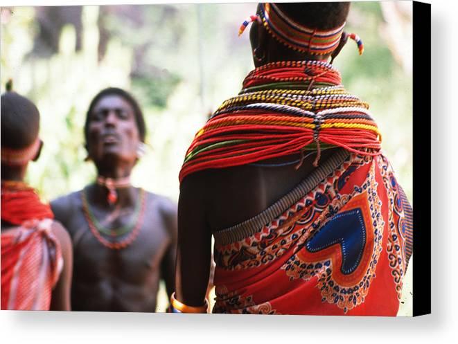 Dancers Canvas Print featuring the photograph Samburu Tribe by Carl Purcell