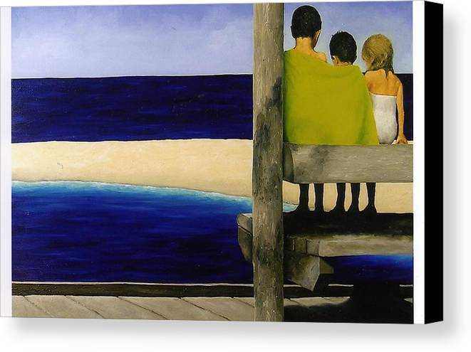 Seascape Canvas Print featuring the painting Secrets by Trisha Lambi