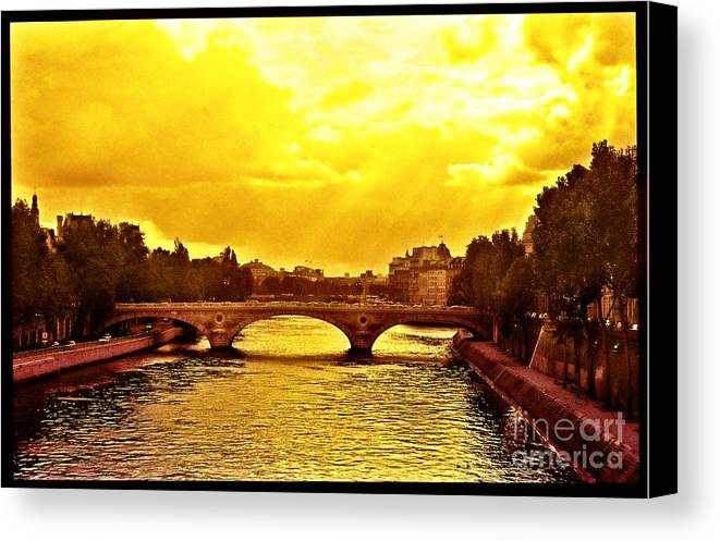 France Canvas Print featuring the photograph Seine View by Madeline Ellis