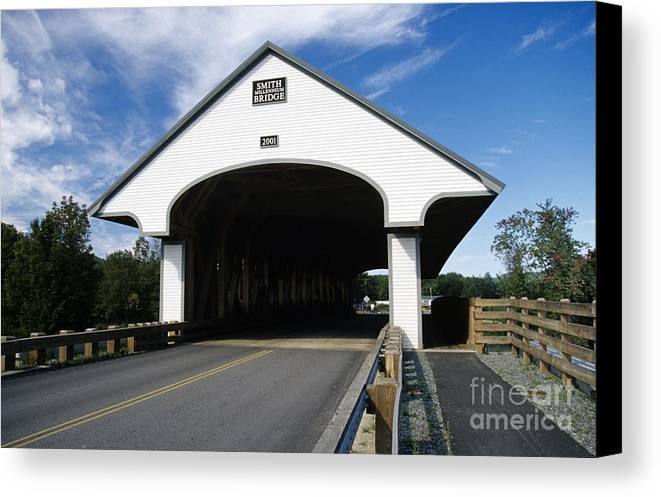 Bridge Canvas Print featuring the photograph Smith Covered Bridge - Plymouth New Hampshire Usa by Erin Paul Donovan