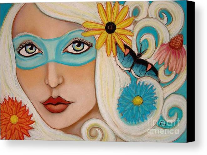 Fairy Canvas Print featuring the painting Spirit Of The South Wind by Tammy Mae Moon