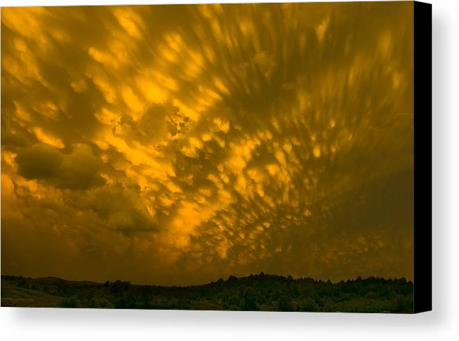 Sunset Canvas Print featuring the photograph Stormy Sunset by Ralph Steinhauer