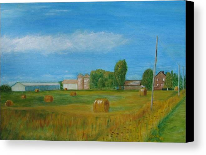Landscape Canvas Print featuring the painting Sunny Day Summer by Patricia Ortman