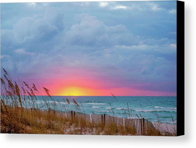 Seascape Canvas Print featuring the photograph Sunrise by Anita Duff