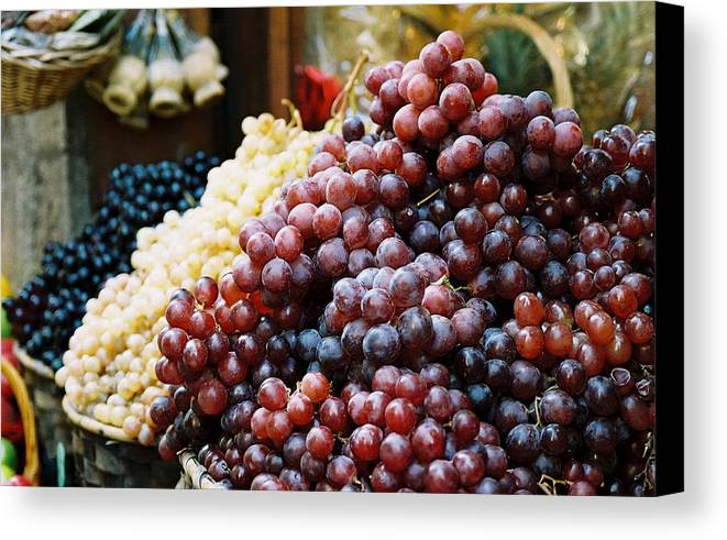 Grapes Canvas Print featuring the photograph The Drink Of Italy by Kathy Schumann