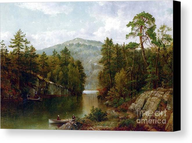 The Lake George Canvas Print featuring the painting The Lake George by David Johnson