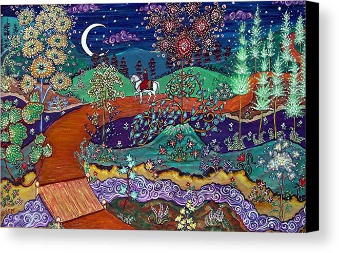 Night Canvas Print featuring the painting The Return by Caroline Urbania Naeem