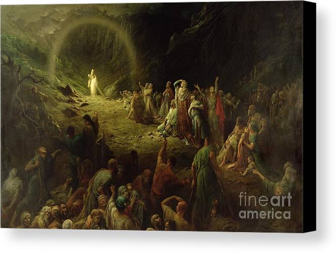 Dore Canvas Print featuring the painting The Valley Of Tears by Gustave Dore