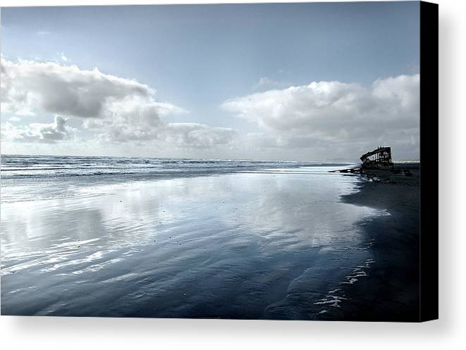 Shipwreck Canvas Print featuring the photograph The Wreckage Of The Peter Iredale by Todd Fox