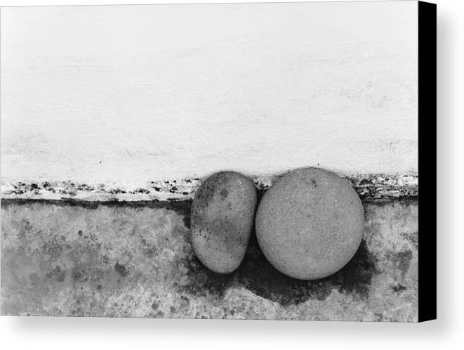 Abstract Canvas Print featuring the photograph Two Stones - Sao Miguel - Azores by Henry Krauzyk