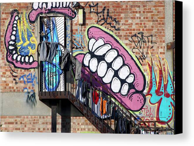 Jez C Self Canvas Print featuring the photograph Underteeth The Stairs by Jez C Self