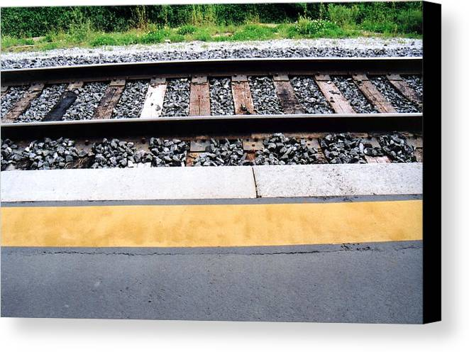 Railway Track Canvas Print featuring the photograph Untitled-1 by Lyle Crump