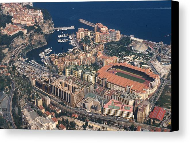 Casino Canvas Print featuring the photograph View On Monte Carlo On French Riviera by Carl Purcell