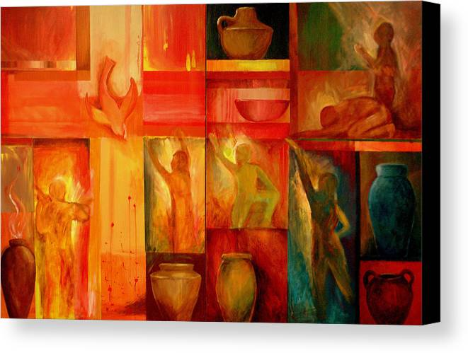 Worship Canvas Print featuring the painting Worship by Jun Jamosmos