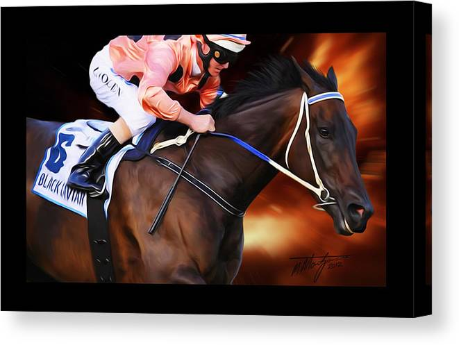 Black Caviar Canvas Print featuring the painting Black Caviar by Michael Montgomerie