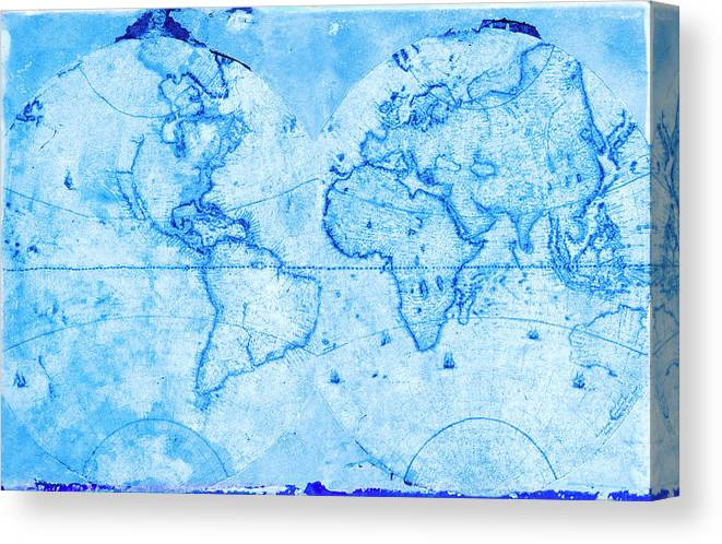 Antique World Map Canvas Print Canvas Art By Rob Atkins