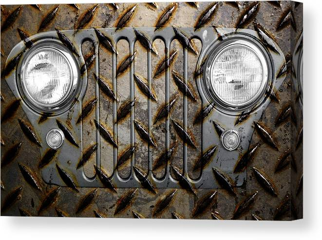 Jeep Canvas Print featuring the photograph Civilian Jeep- Steel Gray by Luke Moore