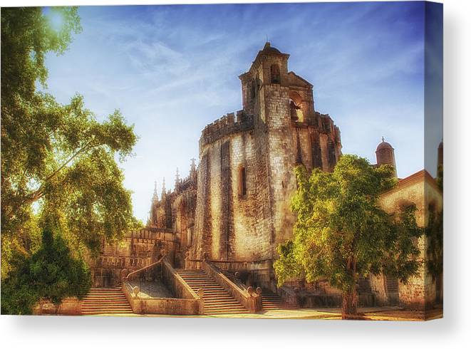 Cristo Canvas Print featuring the photograph Convent Of Christ Light by Taylor Moore