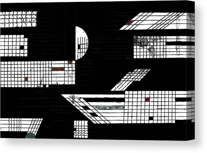 Ink Canvas Print featuring the drawing Deco 6 by Mary Bedy