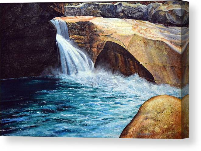 Emerald Pool Canvas Print featuring the painting Emerald Pool by Frank Wilson