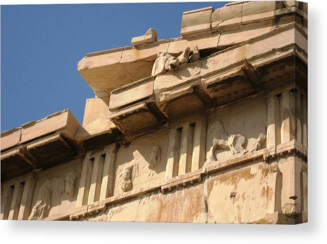 Athens Canvas Print featuring the photograph Erechtheion 9 by Teresa Ruiz