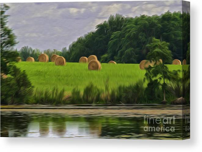 Reflection Canvas Print featuring the photograph Farming Reflection by Brian Mollenkopf