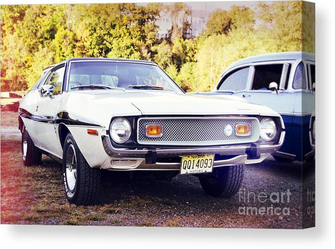 Cars Canvas Print featuring the photograph Ford Mustang New Jersey Usa by Perry Van Munster