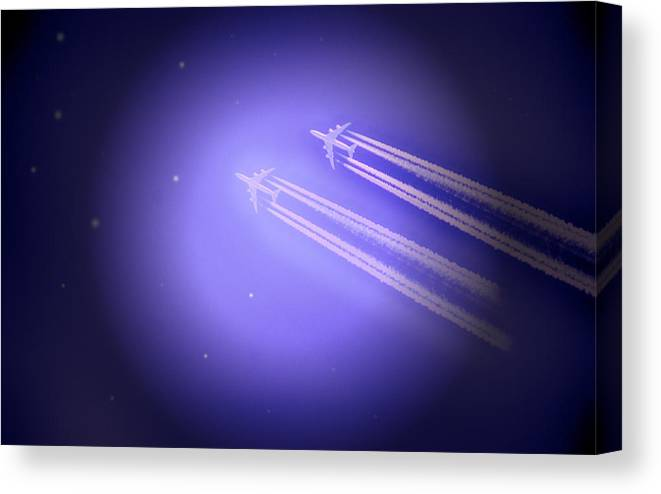 Jet Canvas Print featuring the photograph Jet Race by Kelly Reber