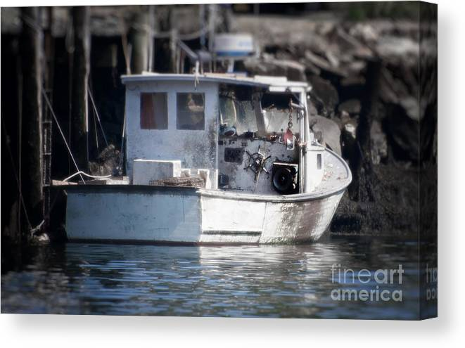 Fisherman's Photography Canvas Print featuring the photograph Old Fishing Boat by Loriannah Hespe
