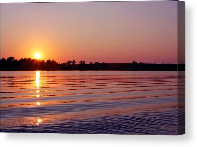 Water Canvas Print featuring the photograph Passing Waves 2 by Jim Darnall