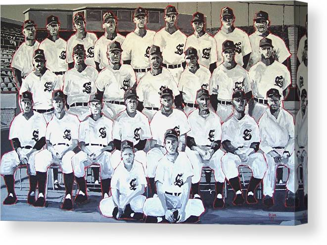 Sacramento Solons Canvas Print featuring the painting Sacramento Solons 1950 by Paul Guyer