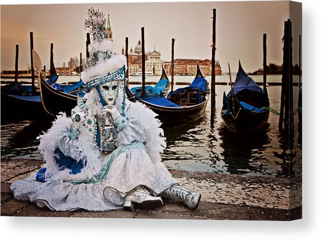 Costume Canvas Print featuring the photograph The Blues by Linda D Lester