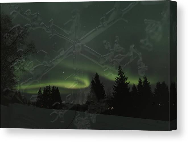 Aurora Borealis Canvas Print featuring the photograph The Essence Of Winter by Ulrich Kunst And Bettina Scheidulin
