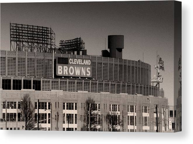 Cleveland Canvas Print featuring the photograph The Hometeams by Kenneth Krolikowski