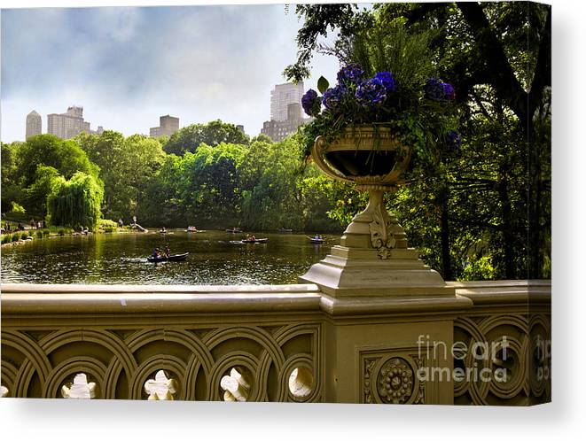 Park Canvas Print featuring the photograph The Park On A Sunday Afternoon by Madeline Ellis